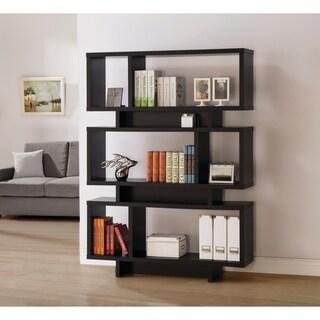 Contemporary 6-shelf Geometric Bookcase