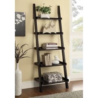 Transitional Cappuccino 5-shelf Bookcase