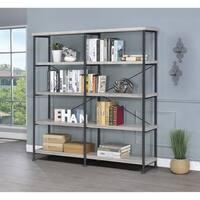 Guthrie Industrial Grey Driftwood 4-tier Bookcase