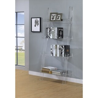 Amaturo Clear Acrylic 4-shelf Ladder Bookcase