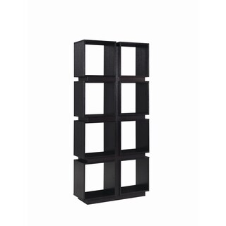 Modern 8-shelf Geometric Bookcase