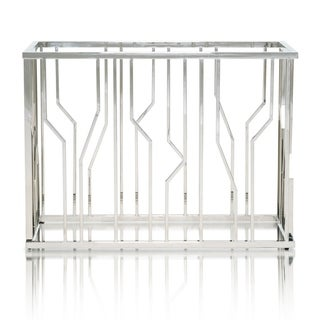 Modern Life Gary Silver Stainless Steel Metal Dining Table Base