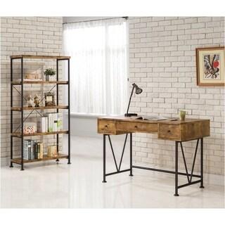 Barritt Industrial Antique Nutmeg 4-shelf Bookcase