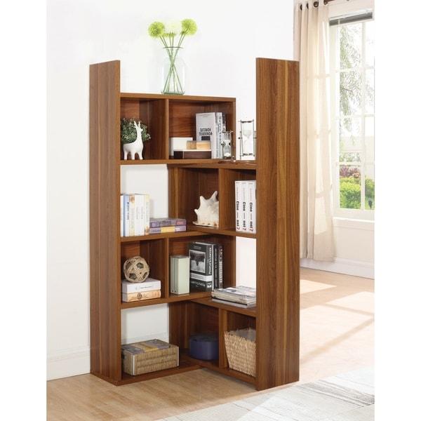 Transitional Rotating Shelf Bookcase