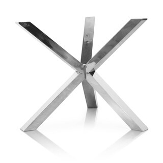 Modern Life Ellie Silvertone Stainless Steel X-cross Base for Round Dining Table