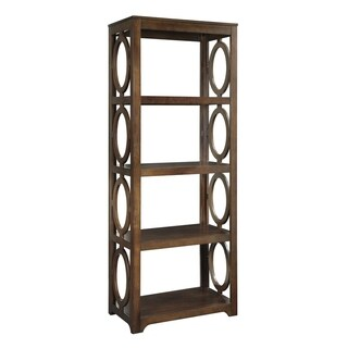 Enedina Transitional Chestnut 4-shelf Bookcase