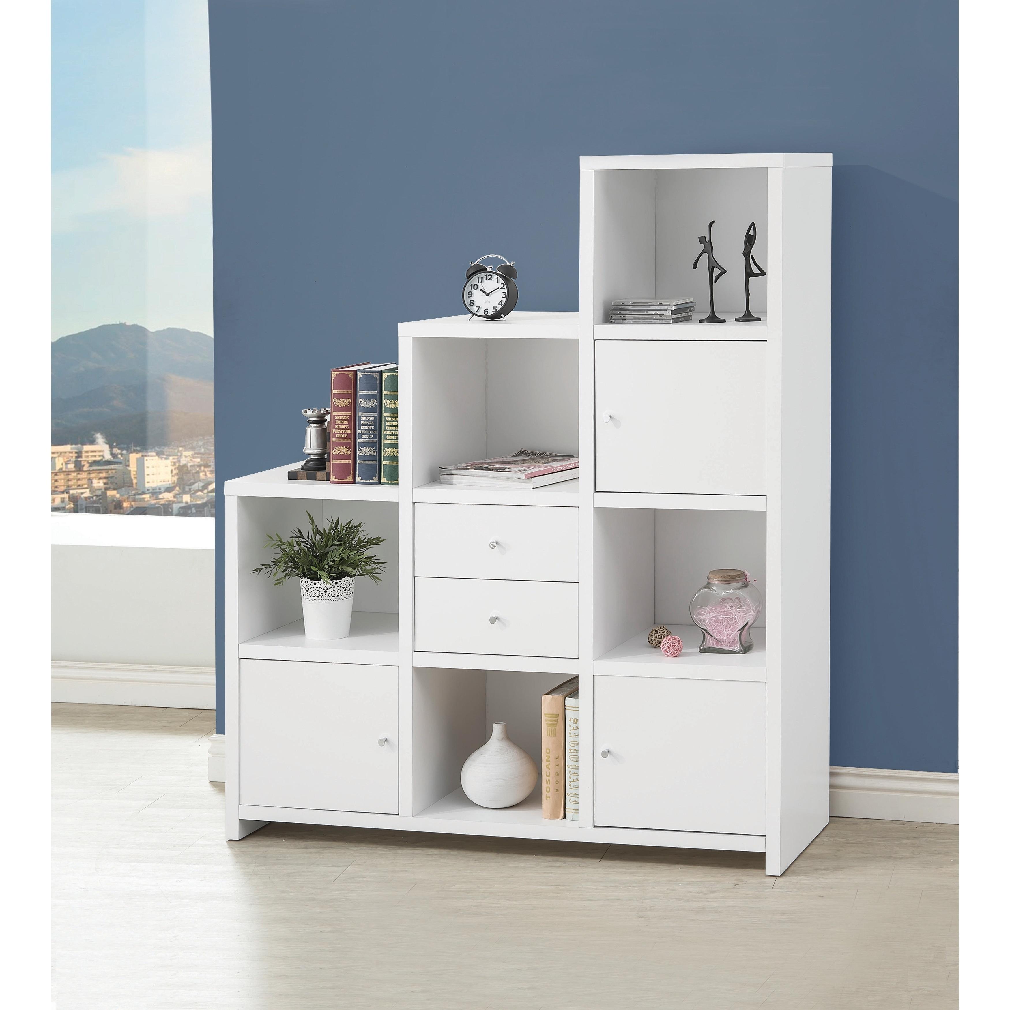 Contemporary White 5 Shelf Bookcase 50 X 15 25 X 63