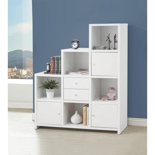Contemporary White 5-shelf Bookcase