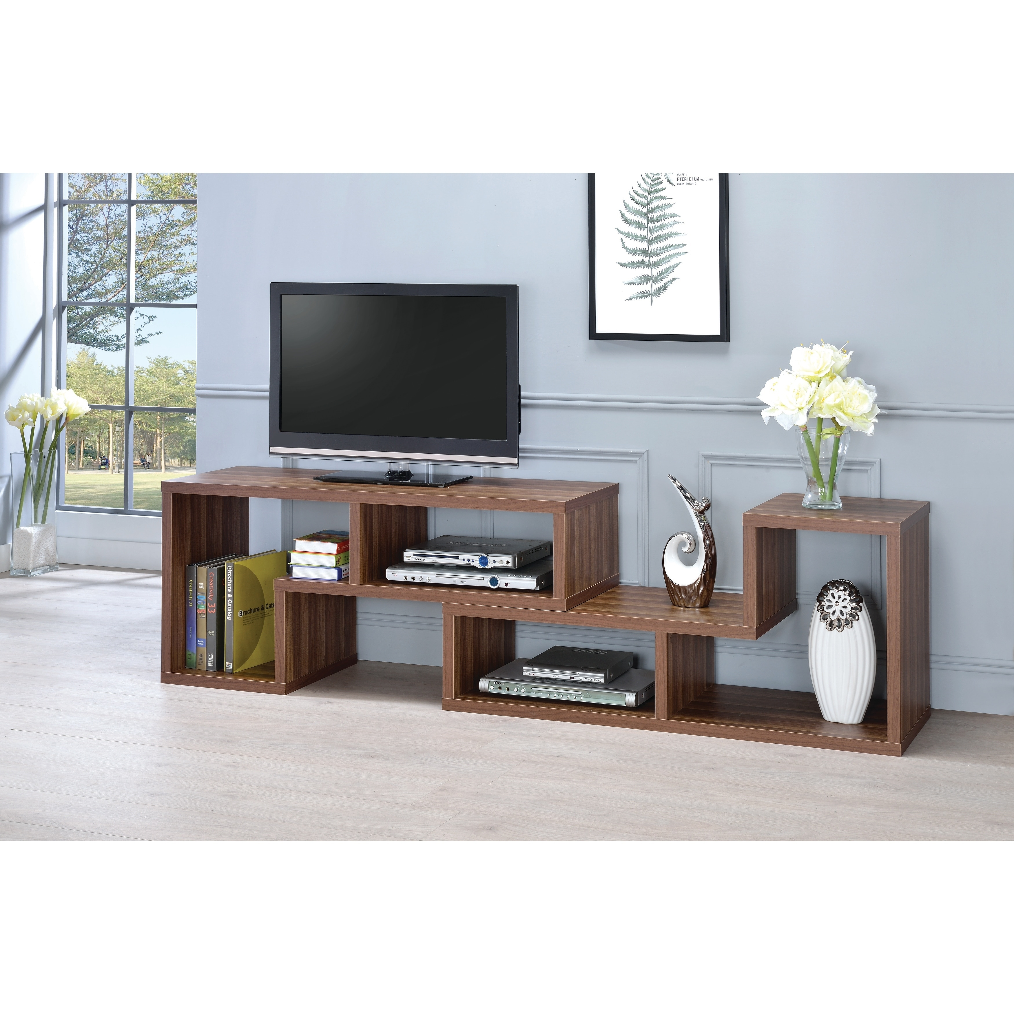 Contemporary Convertible Tv Stand And Bookcase