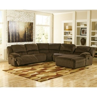 Signature Design by Ashley Chocolate Toletta Left-Arm Facing Power Recliner