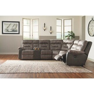 Benchcraft Brownstone Hacklesbury Right-Arm Facing Power Recliner