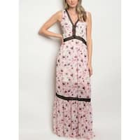 JED Women's Floral Chiffon Maxi Dress