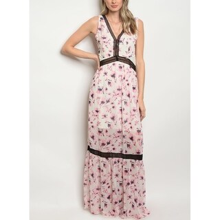 JED Women's Floral Chiffon Maxi Dress
