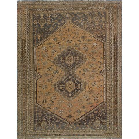 Noori Rug Semi-Antique Sherazi Sahar Brown/Beige Rug - 7'9 x 9'3