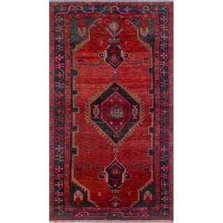 Noori Rug Semi-Antique Sherazi Jafar Red/Blue Rug - 4'8 x 8'1