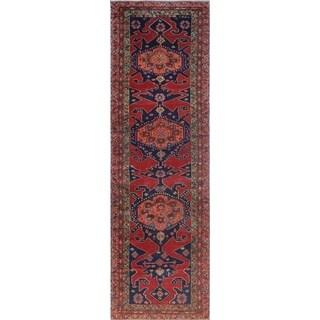 Noori Rug Semi-Antique Sherazi Mahvash Red/Blue Runner - 4'1 x 13'10