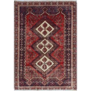 Noori Rug Semi-Antique Sherazi Bameen Red/Blue Rug - 3'5 x 4'10
