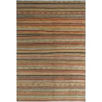 Noori Rug High-Low Fine Chobi Betty Gold/Blue Rug - 6'9 x 9'6