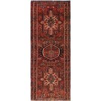 Noori Rug Semi-Antique Heriz Mahnaz Red/Blue Rug - 1'11 x 4'10