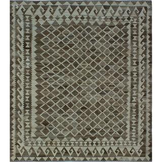 Noori Rug Winchester Kilim Maryam Ivory/Brown Rug - 8'8 x 9'8