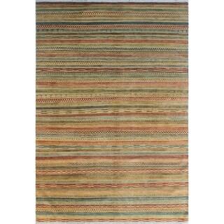 "High-Low Fine Chobi Margaret Red/Rust Rug (7'1 x 10'1) - 7'1"" x 10'1"""