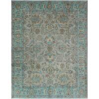 Yousafi Fine Chobi Malawa Taupe/Blue Rug (9'3 x 11'10)