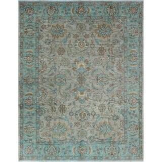 Noori Rug Yousafi Fine Chobi Malawa Taupe/Blue Rug - 9'3 x 11'10
