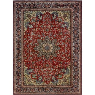 Noori Rug Vintage Distressed Esme Red/Blue Rug - 8'4 x 11'6