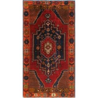 Noori Rug Semi-Antique Sherazi Bamshad Red/Blue Rug - 3'9 x 7'0