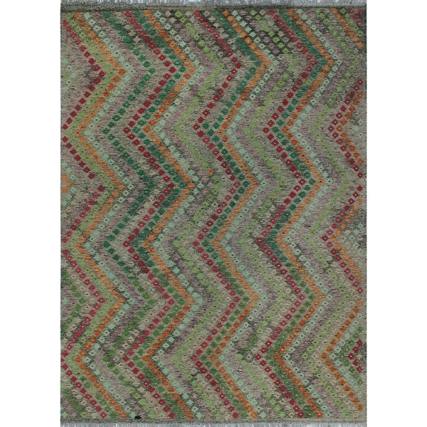 Shop Noori Rug Sangat Kilim Isla Brown/Green Rug