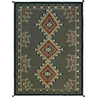 Noori Rug Tribal Kilim Chinelo Beige/Black Rug - 8'7 x 11'7
