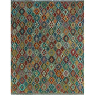 Noori Rug Sangat Kilim Njemile Brown/Red Rug - 10'3 x 12'9