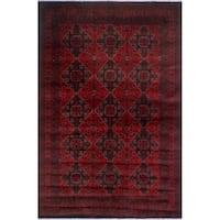 Noori Rug Khal Mohammadi Nombeko Red/Black Rug - 6'6 x 9'8