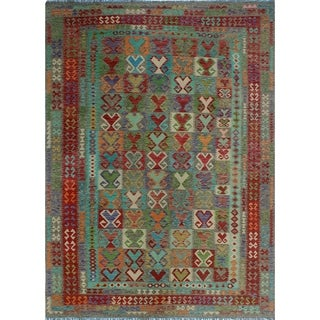 Noori Rug Sangat Kilim Alex Brown/Red Rug - 8'3 x 11'7