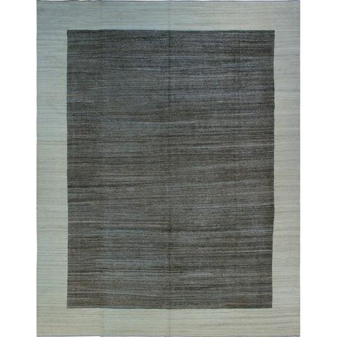 Noori Rug Winchester Kilim Chinua Brown/Ivory Rug - 11'10 x 15'2