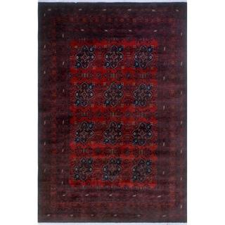 Noori Rug Khal Mohammadi Abeeku Red/Black Rug - 6'6 x 9'8