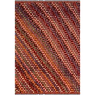 Noori Rug Sangat Kilim Brynn Orange/Rust Rug - 6'10 x 9'9