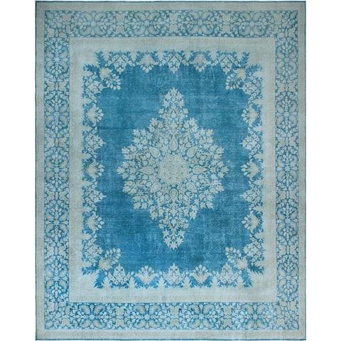 Noori Rug Fine Vintage Distressed Gigi Blue/Grey Rug - 9'7 x 12'5