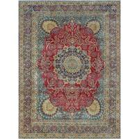 Noori Rug Fine Vintage Distressed Femi Red/Blue Rug - 8'9 x 12'5