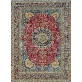 Noori Rug Fine Vintage Distressed Femi Red/Blue Rug - 8'9 x 12'5