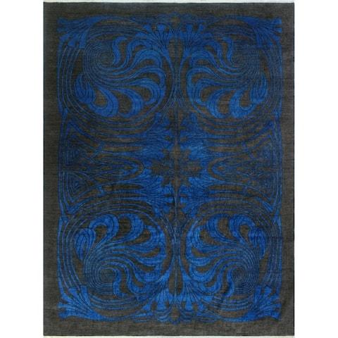 Noori Rug Aria Fine Chobi Omorose Blue/Black Rug - 10'3 x 13'9
