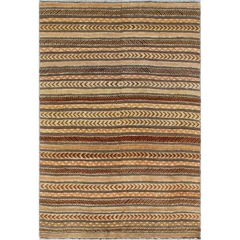 Noori Rug Moroccan Kissa Beige/Brown Rug - 3'11 x 5'9