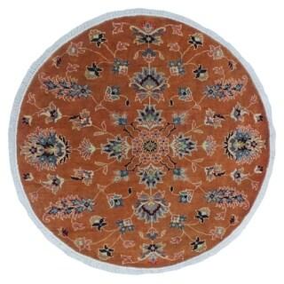 Noori Rug Peshawar Fine Chobi Dulani Orange/Blue Rug - 3'11 x 4'2