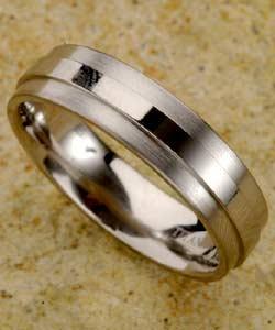 Men's Titanium Raised Center Band (7 mm) (Option: 13.5)