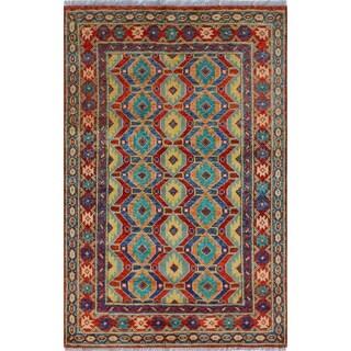 Noori Rug Balochi Osakwe Red/Green Rug - 3'11 x 6'1