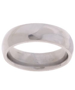 Titanium Men's Polished and Domed Band (6 mm)