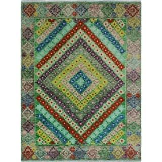 Noori Rug Balochi Hasani Blue/Grey Rug - 4'10 x 6'4