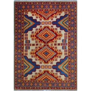 Noori Rug Balochi Luke Ivory/Blue Rug - 5'7 x 7'8