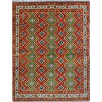 Noori Rug Balochi Ehioze Rust/Ivory Rug - 4'11 x 6'7