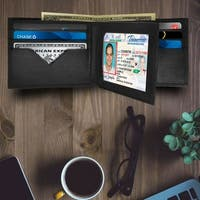 AFONiE - Roomy and Practical Leather Bifold Wallet - 9 x 3.5